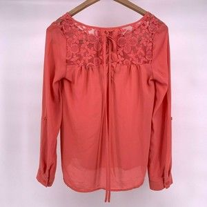 Mine Women's Small Lace Up Back Blouse